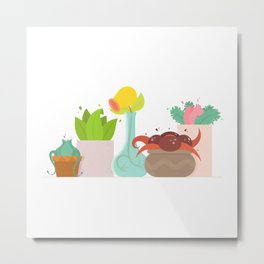 Poképlanters Metal Print