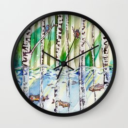 Flooded Forest Wall Clock