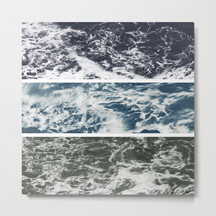 SaltWater Tryptych Variation II Metal Print