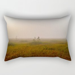 Thick morning  fog in the swamp Rectangular Pillow