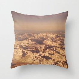 Somewhere Over Alaska Throw Pillow