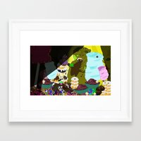 cookie monster Framed Art Prints featuring Cookie Monster by Vito Giorgio