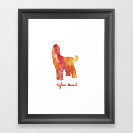Afghan Hound Dog Portrait Framed Art Print