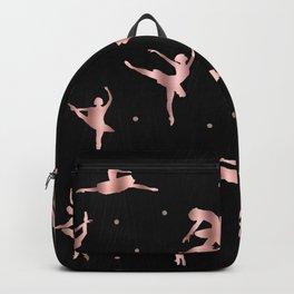 Rose Gold Ballet Positions Rucksack