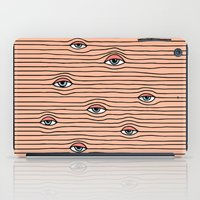 tom selleck iPad Cases featuring PEEPING TOM by Wesley Bird