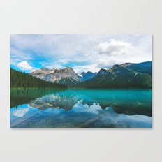 The Mountains and Blue Water Canvas Print