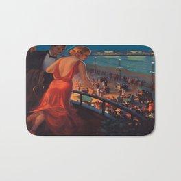 Vintage poster - Atlantic City Bath Mat