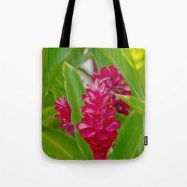 Alpinia purpurata Jungle King Red Ginger Tropical Flowers Lāhainā Maui Hawaii Tote Bag