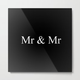Mr & Mr Monogram Simple Metal Print