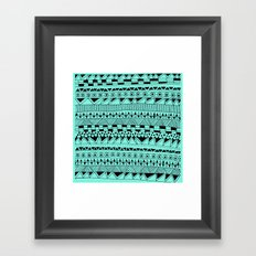 Fun - Black and Mint Framed Art Print