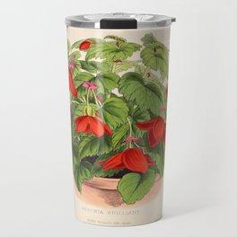 Red Begonias Travel Mug