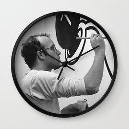KEITH HARING PAINTING Wall Clock