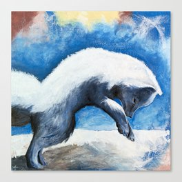 Animal - Antoine the Artic Fox - by LiliFlore Canvas Print