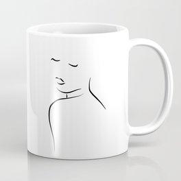 Minimal Lady Drawing - Kiss Me Cora Coffee Mug