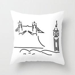 London tower bridge big ben Throw Pillow