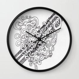 Heart Slicing Wall Clock