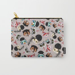 Pop Cats - Pattern French Gray Grey Carry-All Pouch