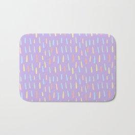 Modern violet teal yellow watercolor brushstrokes pattern Bath Mat