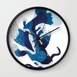 Blue coy fish Wall Clock