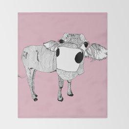 Cowface Throw Blanket