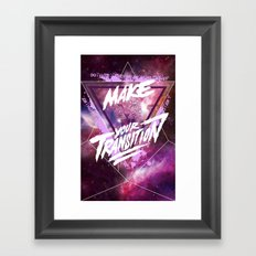 Make your transition (purple) Framed Art Print