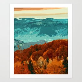 Of Mountains and Forests Art Print