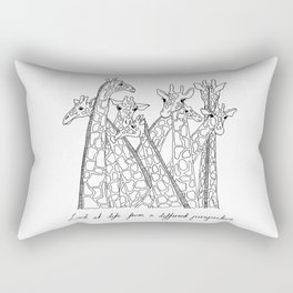 Look at life from a different perspective Rectangular Pillow