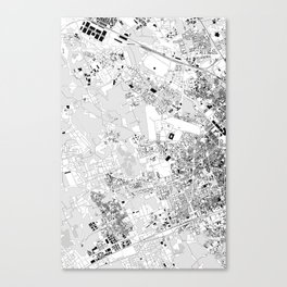 milan lhs map Canvas Print
