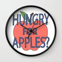 Hungry for apples? Wall Clock