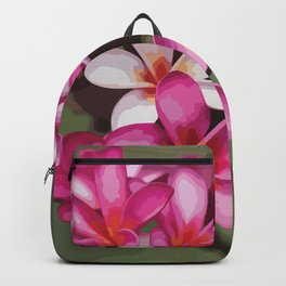 Fuschia Plumeria Illustration Backpack
