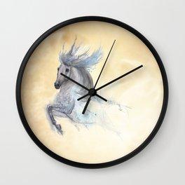 Dancing white horse Wall Clock
