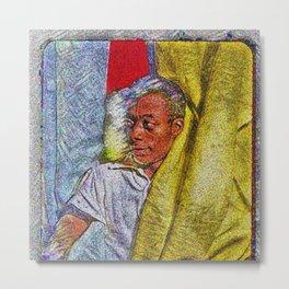 Harlem Renaissance 'James Baldwin' Portrait by Jeanpaul Ferro Metal Print