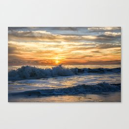 Waves Will Crash but the Sun Will Always Rise Canvas Print