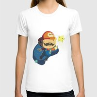 mario T-shirts featuring Mario by Rod Perich