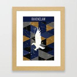 Ravenclaw House Pattern Framed Art Print