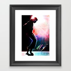 Dancing in the stars Framed Art Print