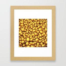 Raw gold Framed Art Print