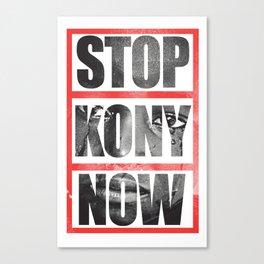Stop Kony Canvas Print