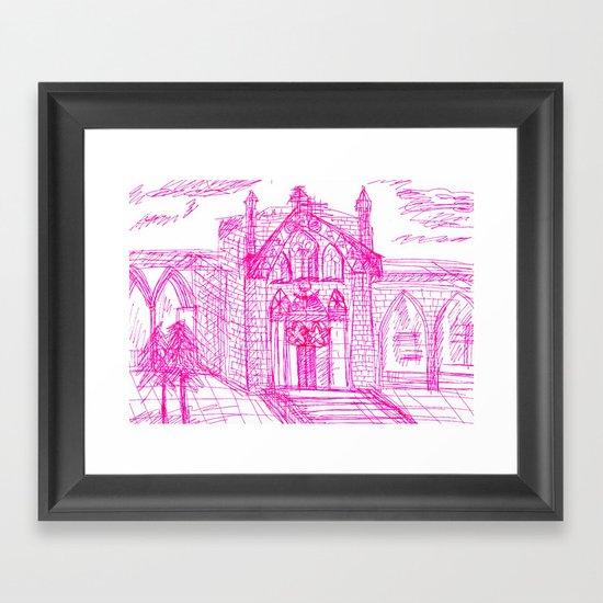 Building sketch Framed Art Print