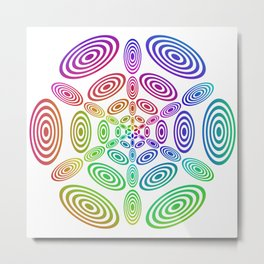 Rainbow ellipse fun Metal Print