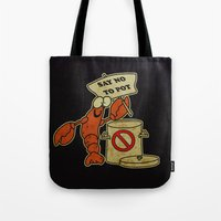 lobster Tote Bags featuring Lobster by Barbo's Art