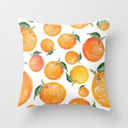 Rome Forest Oranges Throw Pillow