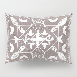 Square Mandala Butterfly Floral Rustic Line Drawing Boho Spirituality Yoga Focus Divine Meditation Pillow Sham