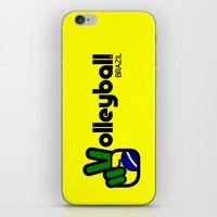 volleyball iPhone & iPod Skins featuring Volleyball Brazil by Skylar 83