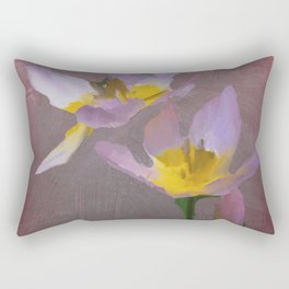 Purple Tulips Abstract, Metal, Copper, Floral, Modern Rectangular Pillow