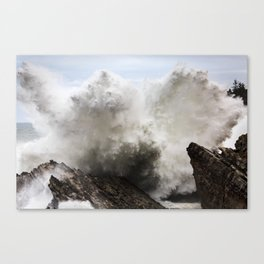 Exploding Waves Canvas Print