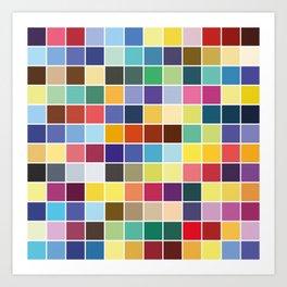 Pantone Color Palette - Pattern Art Print