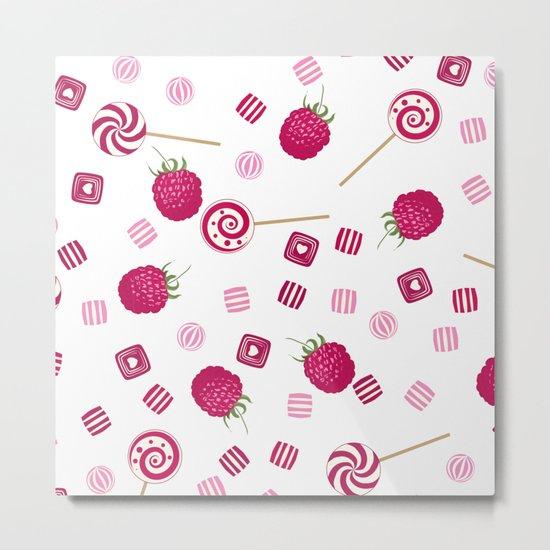 Candy sweets lollipops Raspberry Metal Print
