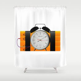 Time Bomb Shower Curtain