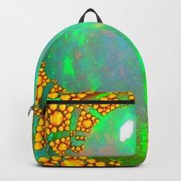 OCTOBER BIRTHSTONE GREEN FIRE OPAL & GOLD DESIGN Backpack